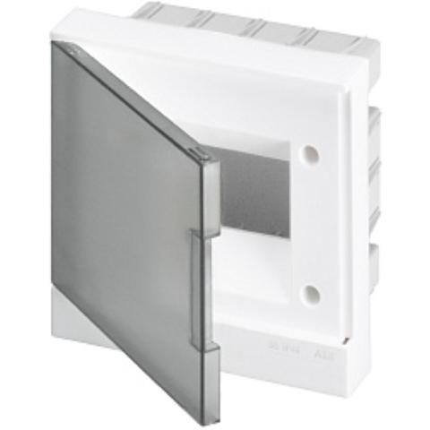 Бокс в нишу Basic E 6-модулей прозрачная дверь. Цвет Белый. (с клеммами) 190mm*180mm*105mm IP40. ABB. 1SZR004002A1202