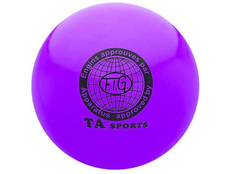 Мяч для художественной гимнастики силикон TA sport. Диаметр 19 см. Цвет фиолетовый. :(Т8):