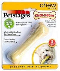 Игрушка для собак Petstages Chick-A-Bone косточка с ароматом курицы 11 см малая