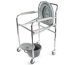 Кресло-туалет складной на четырех колесах WC Mobail