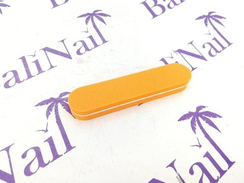 Пилка-баф малая 100/180 оранжевая, прямая
