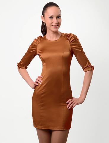 A1881-7 платье женское, коричневое