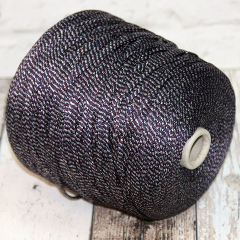 Смесовка ленточная  120 серо-фиолетовый меланж