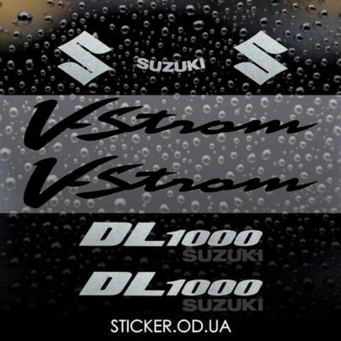 Набор виниловых наклеек на мотоцикл SUZUKI DL1000 V-STROM, 2006.
