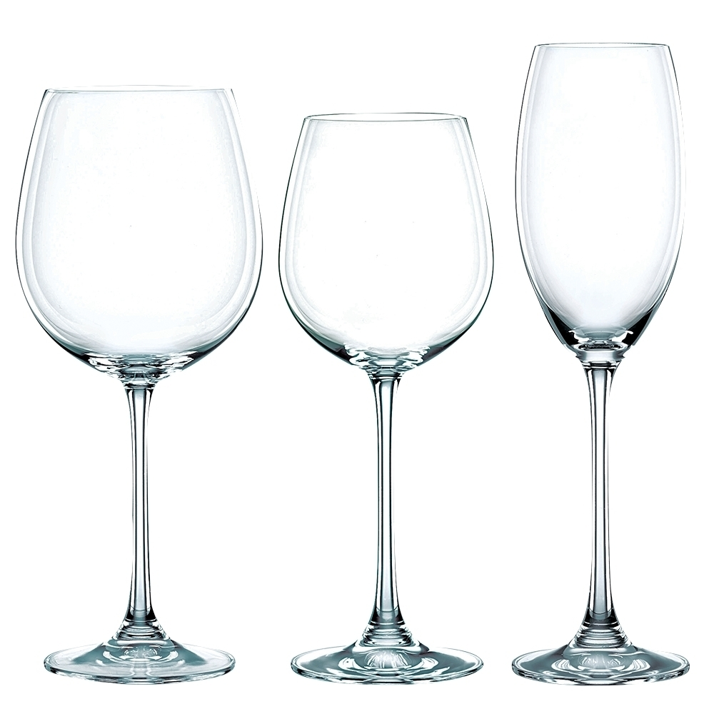 Набор из 18-и бокалов для вина Red Wine Vivendi Premium, 727 мл + White 387 Champagne Glass 272