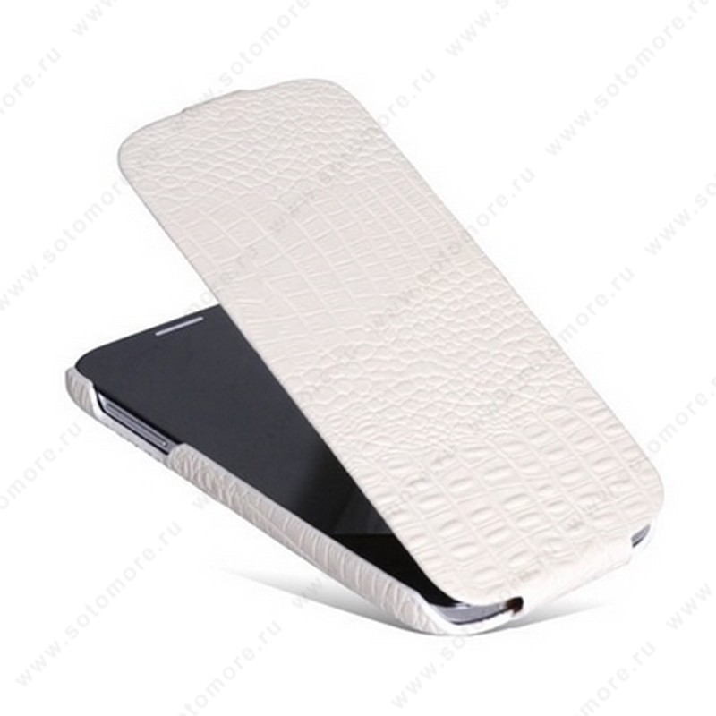 Чехол-флип Borofone для Samsung Galaxy S4 i9500/ i9505 - Borofone Crocodile Leather case White