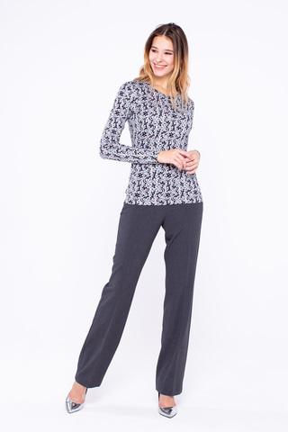 Фото классические брюки прямого силуэта графитового оттенка - Брюки А435а-567 (1)