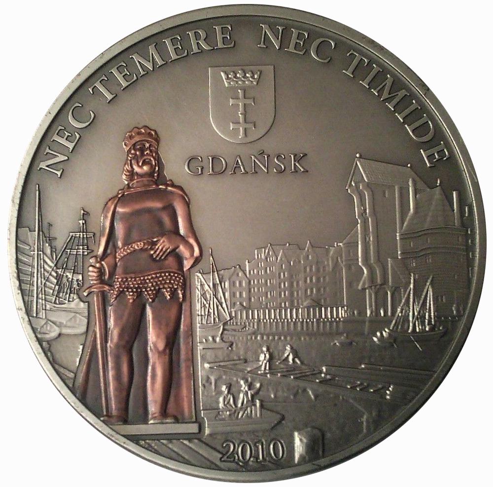 5 долларов. Гданьск Ганзейский город Корабль парусник. О-ва Кука. 2010 год.