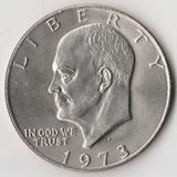 F403, 1973, США, 1 доллар Орел на луне, aUNC