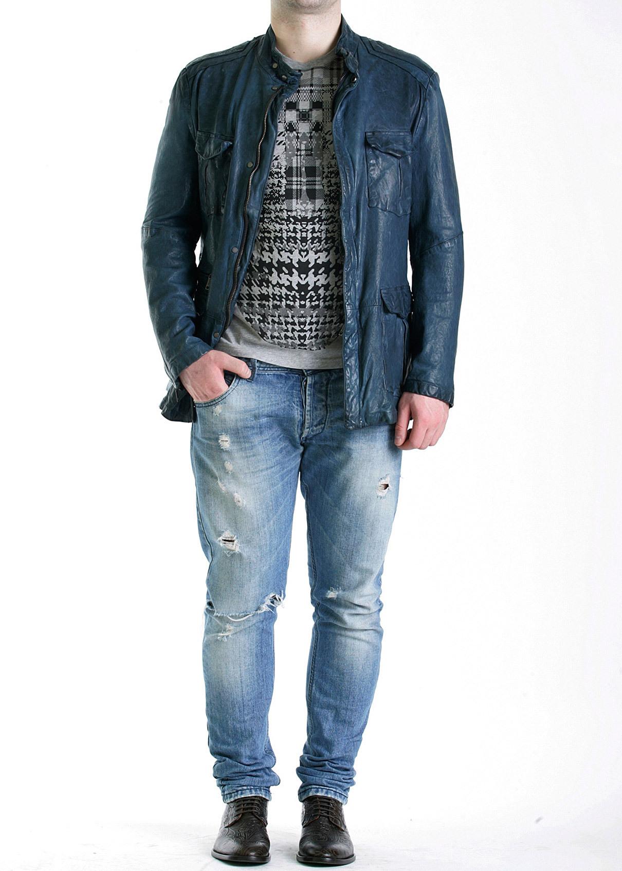 Куртка кожаная ETRO