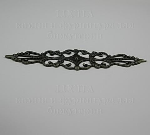 Филигрань 57х16 мм (цвет - античная бронза)