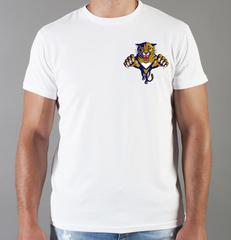 Футболка с принтом НХЛ Флорида Пантерз (NHL Florida Panthers) белая 0011