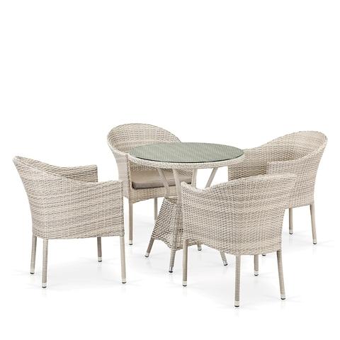 Комплект плетеной мебели T705ANT/Y350-W85 4Pcs Latte