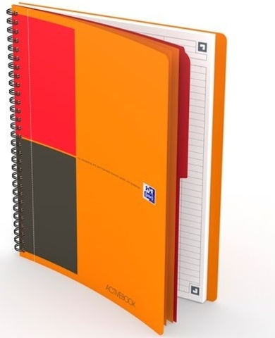 Бизнес-тетрадь International ActiveBook B5 (19.7*25см) линейка 80л пластиковая обложка