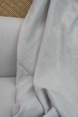 Лен смягченный, цвет серый