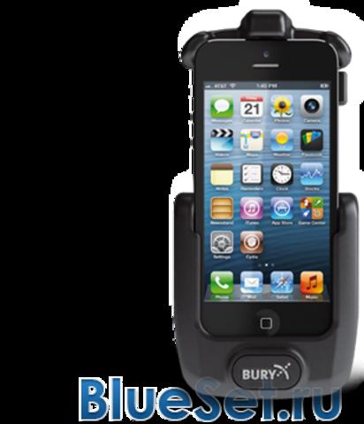 BURY UNI System 9 держатель с зарядкой и антенным разъемом для iPhone 5S/5C (установ. компл)