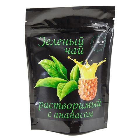 Зеленый чай растворимый с ананасом OLIMED, 80г