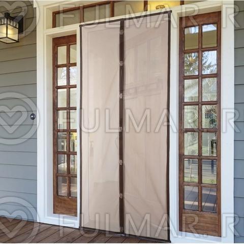Дверная москитная сетка на магнитах 90x210 см Коричневая