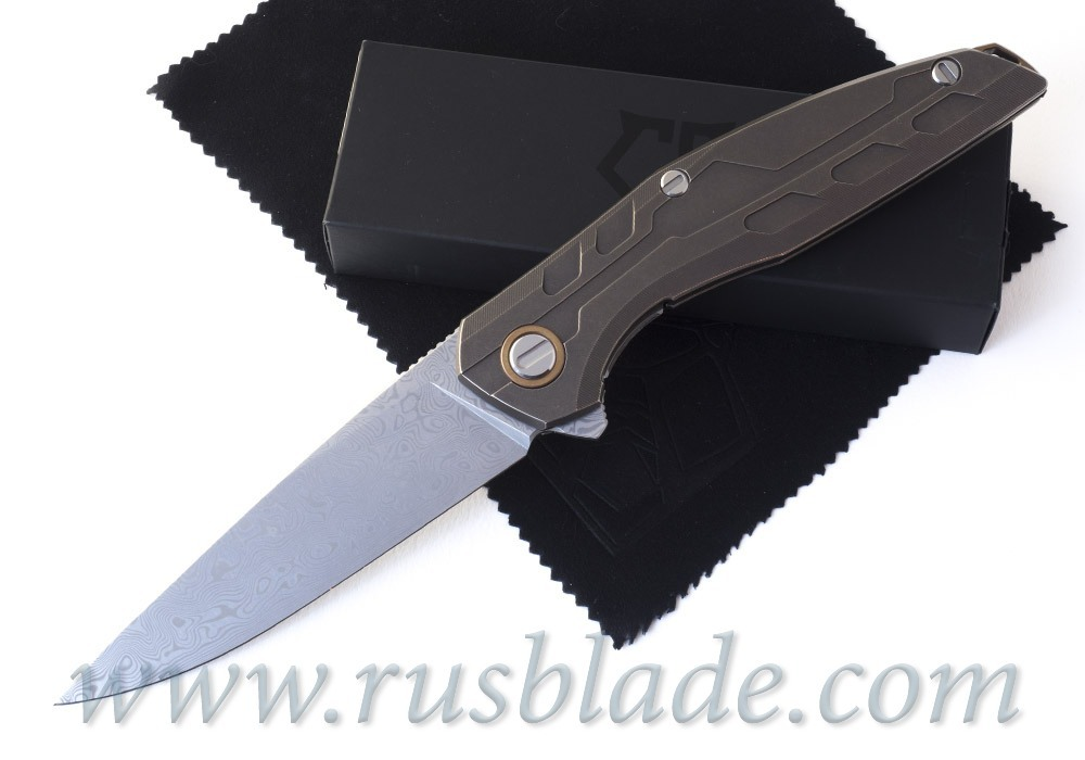 CUSTOM Shirogorov 111 TiBr Damascus KNIFE