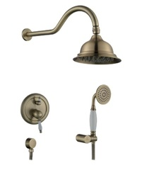 Смеситель KAISER Rios 31077-1 Bronze смеситель для скрытого монтажа с верхним и ручным душем