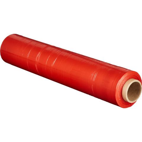 Стрейч-пленка для ручной упаковки вес 2 кг 23 мкм x 190 м x 50 см красная (престрейч 180%)