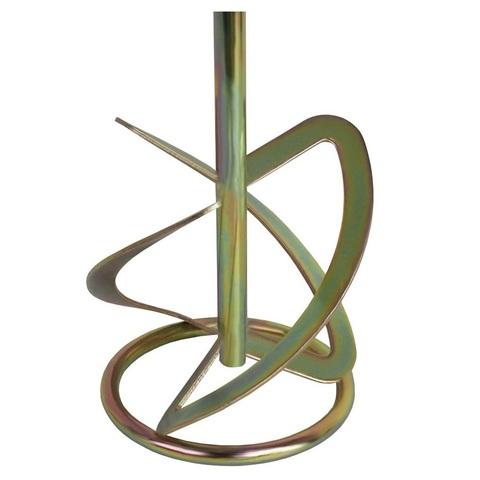 Насадка для перемешивания ПРАКТИКА хвостовик М14, 120 х 600 мм, гипс, цемент, клей д/плитк (779-479)