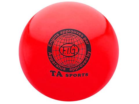 Мяч для художественной гимнастики силикон TA sport. Диаметр 19 см. Цвет красный.:(Т8):