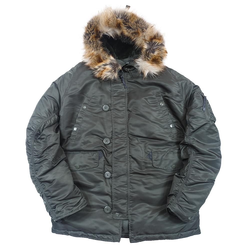Куртка Аляска N-3B Husky Apolloget 2017 (т.зеленая - forest night)