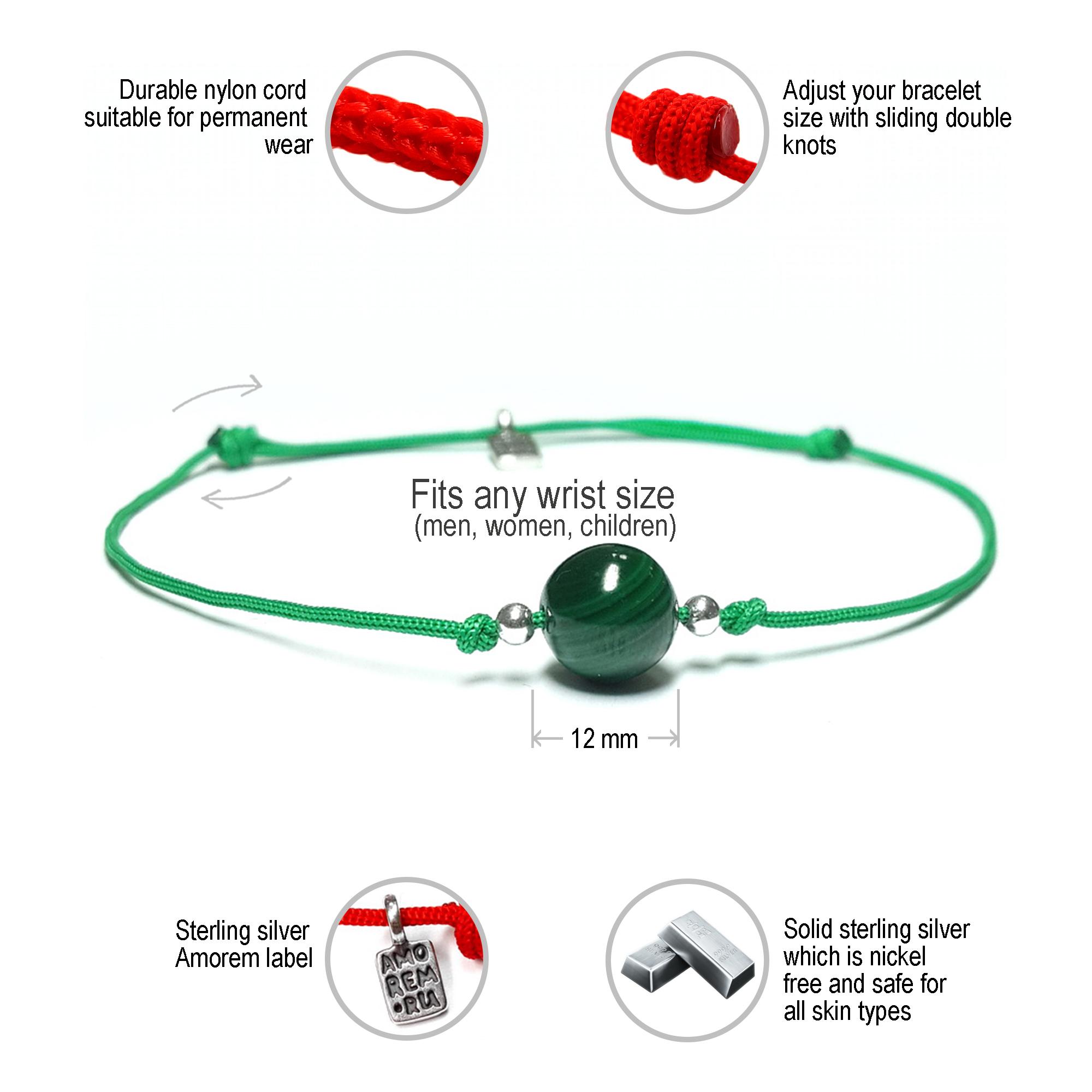 Heart Chakra bracelet, for 4th chakra, malachite