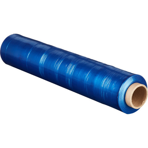 Стрейч-пленка для ручной упаковки вес 2 кг 20 мкм x 217 м x 50 см синяя (престрейч 180%)
