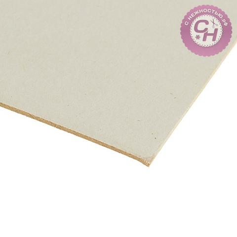 Переплетный картон для творчества, 21*30 см, 1,5 мм, белый, 950 г\м2, 1 шт.