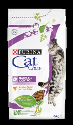 Cat Chow Хэйрболл Контрол для выведения шерстяных комочков у взрослых кошек
