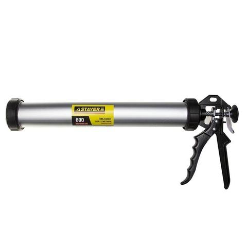 STAYER 600 мл универсальный закрытый пистолет для герметика, алюминиевый корпус, серия Professional