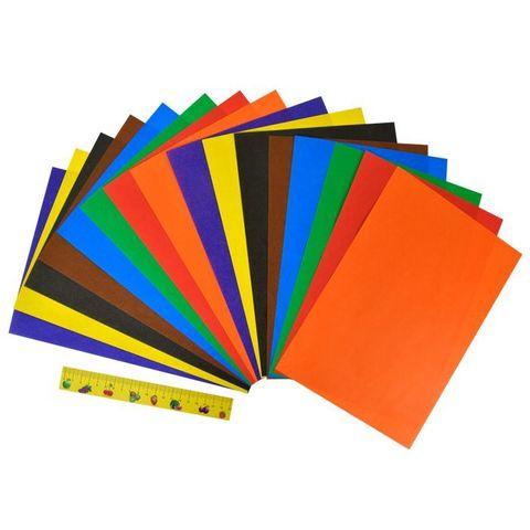 Бумага цветная офсетная Каляка-Маляка А4, 8 цветов 16 листов, 70 г/м2 в папке/БЦКМ16