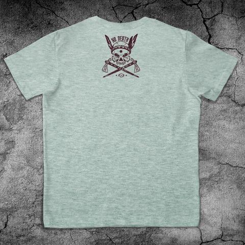 Купить хлопковую футболку Indian для пауэрлифтинга, для зала, фитнеса, стиль жизни вид сзади