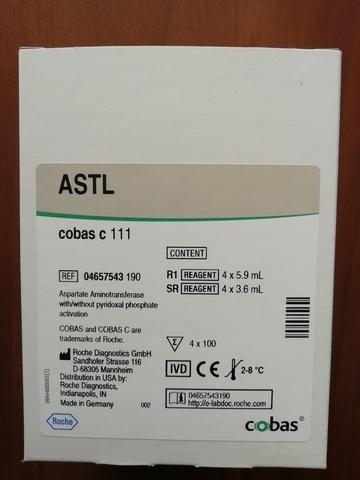 Аспартатаминотрансфераза МФКХ (Aspartat Aminotransferase IFCC cobas с system (ASTL/GOT)), 4х100тестов, Roche Diagnostics GmbH, Германия.