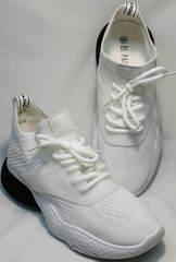 Повседневные женские кроссовки белого цвета El Passo KY-5 White.