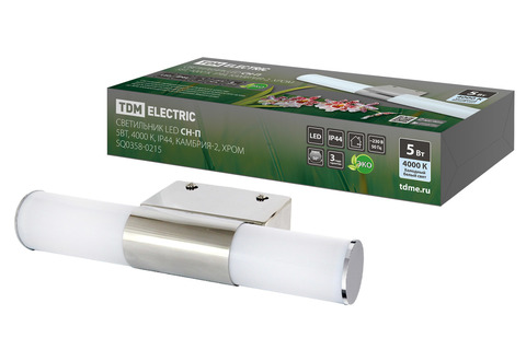 Светильник LED CH-П 5Вт, 4000 К, IP44, Камбрия-2, хром TDM