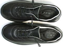 Черные кожаные кроссовки женские осень Rozen M-520 All Black.
