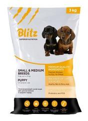 Корм Blitz для щенков мелких и средних пород — Puppy Small & Medium