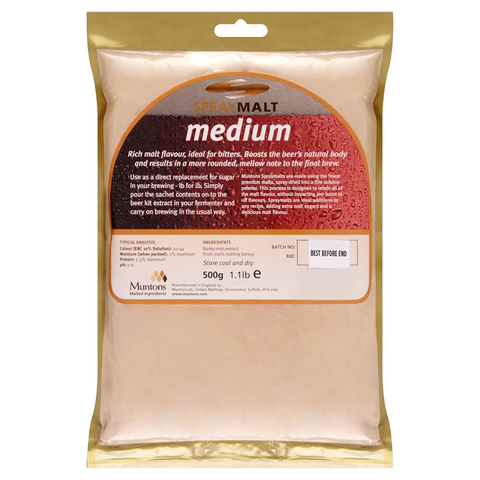Сухой неохмеленный солодовый экстракт Muntons Spraymalt Medium 0.5 кг.