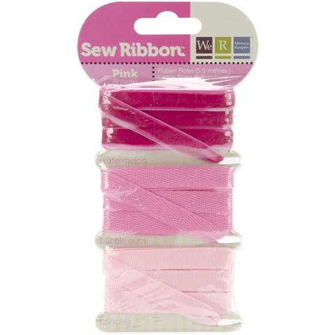 Набор лент. We R Memory Keepers Sew Ribbon - 5,5м- Pink