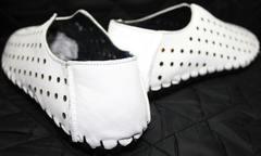 Стильные туфли летние мужские Luciano Bellini 107704 White.
