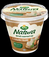 """Сливочный сыр """"Natura"""" мягкий с белыми грибами 55% 150 г"""