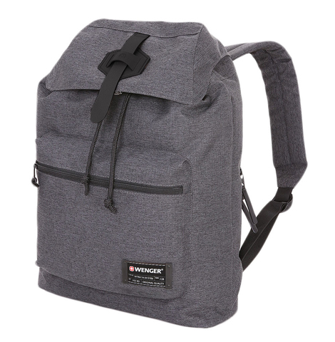 Рюкзак WENGER 13'', cерый, ткань Grey Heather/ полиэстер 600D PU , 29х13х40 см, 15 л