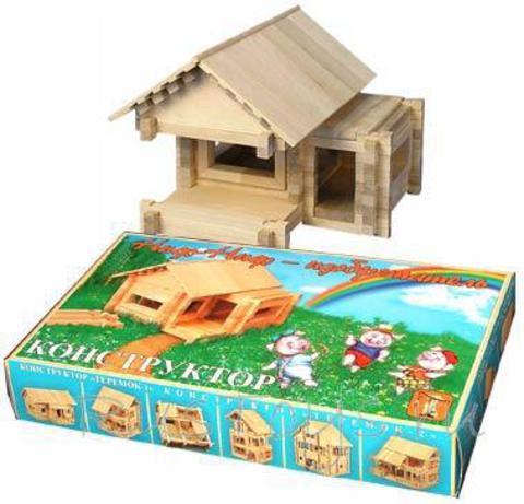 Конструктор деревянный домик Ниф-ниф Изобретатель