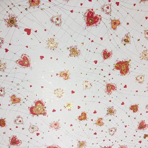 Упаковочная бумага для подарка на свадьбу валентинка