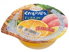 Желе фруктовое Tarami с кусочками фруктов Персик, Ананас и Мандарин 160 гр.