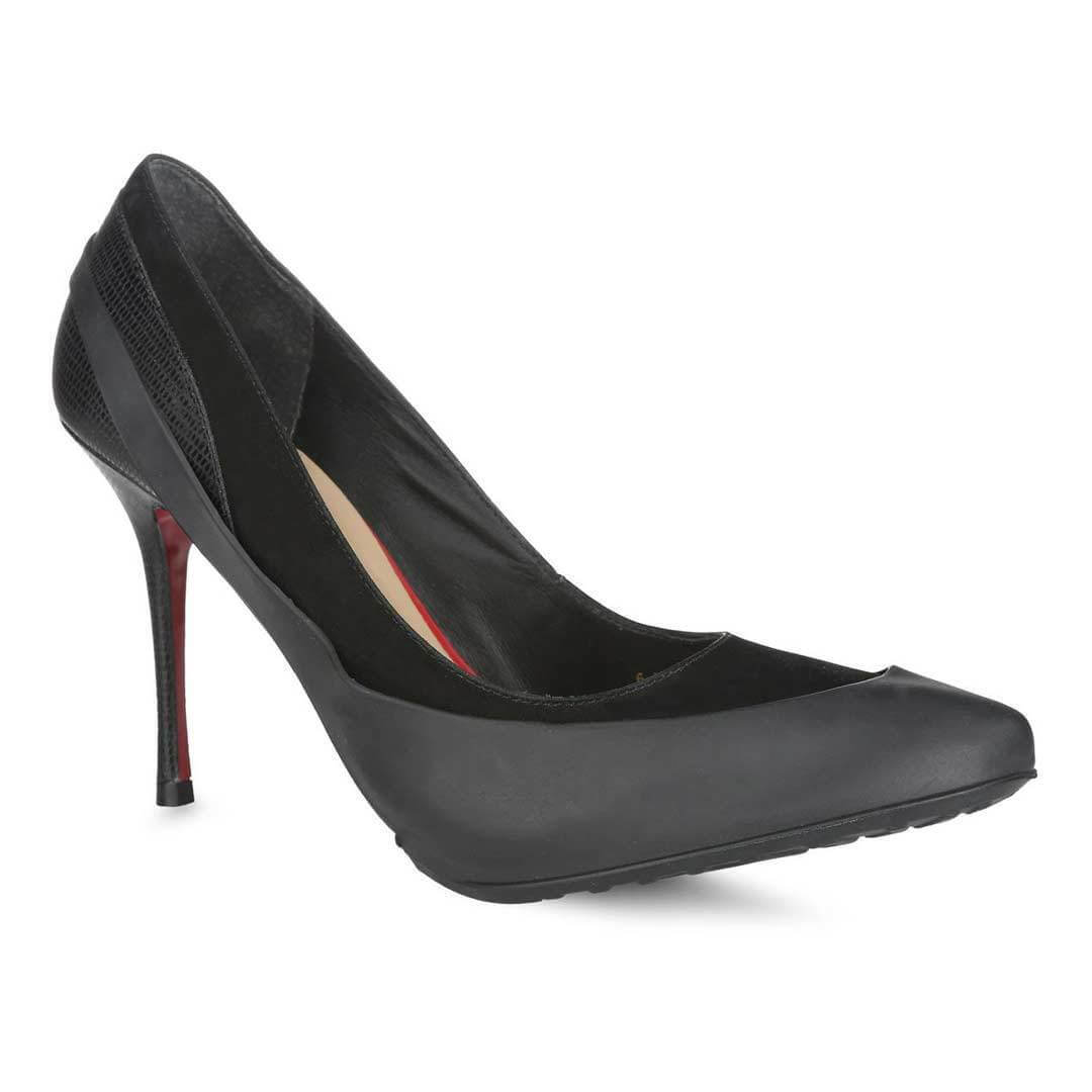 Женские галоши для обуви на каблуках черные