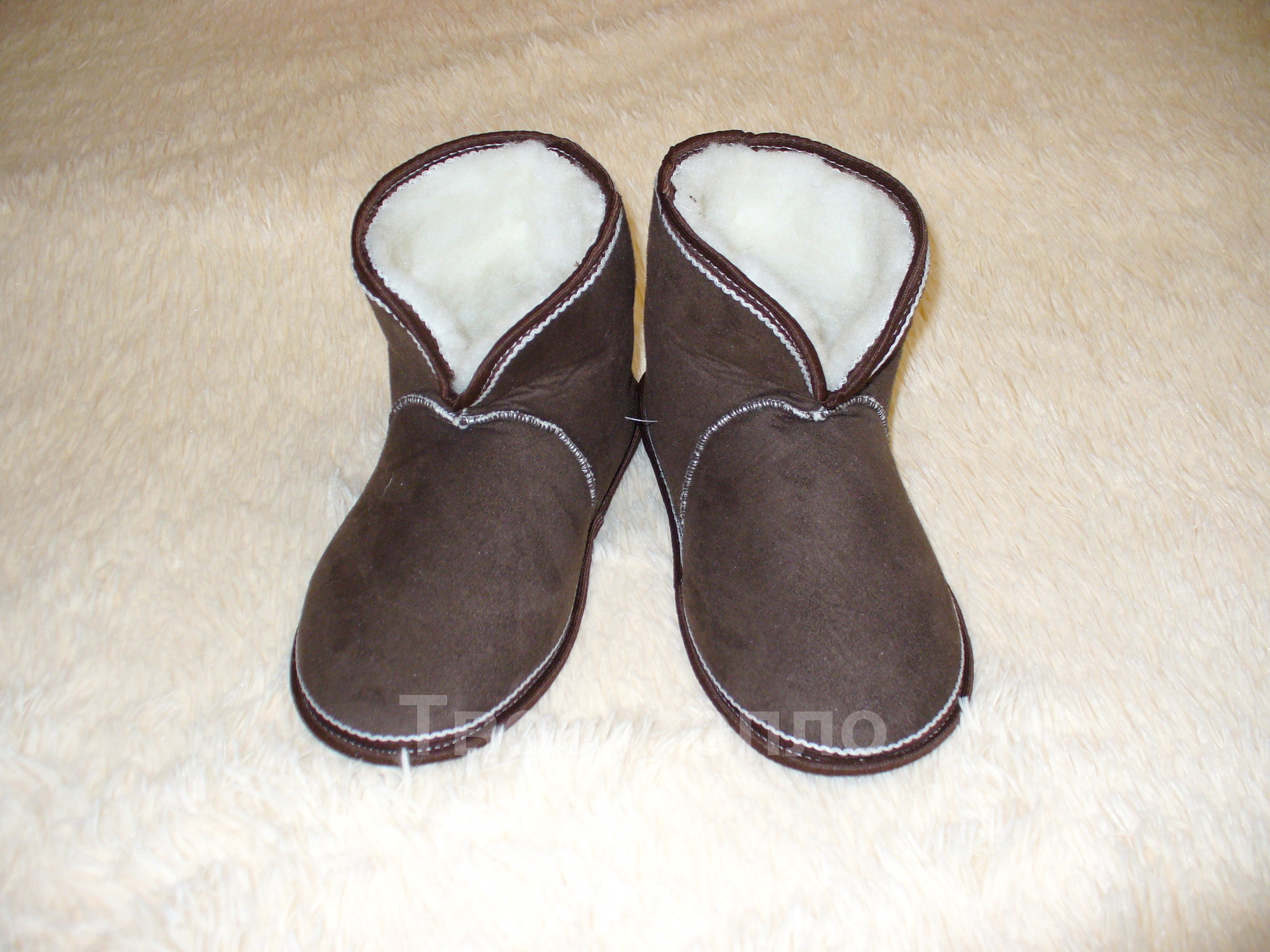 Тапочки чуни коричневые